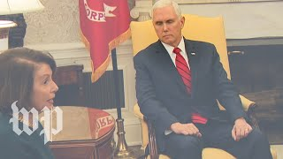 What Vice President Pence was thinking during that awkward, televised meeting