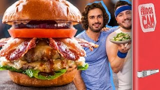 Ultimate Cheat Day Cheeseburger ft The Body Coach | FridgeCam