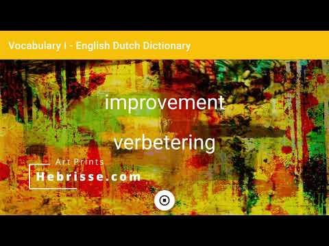 English - Dutch Dictionary - Vocabulary I