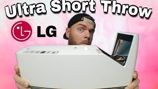 Best Ultra Short Throw Projector 2017 | LG Probeam HF85JA Review