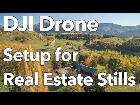 DJI Drone Setup for taking Real Estate Stills