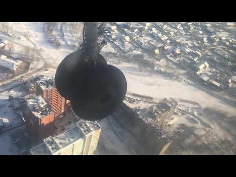 Заход и посадка в Иркутске (03.02.19)