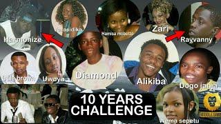 Wasanii Walivyokuwa Miaka 10 iliyopita,Kweli pesa sabuni Ya Roho Jionee Hapa Ten Years challenge.