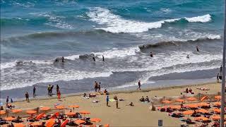 Aussicht auf Playa del Ingles Juli 2017  Wind & Wellen HD