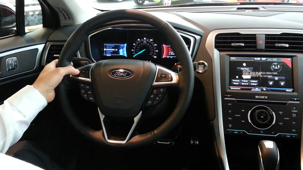2013 Ford Fusion Interior Amp Technology Youtube