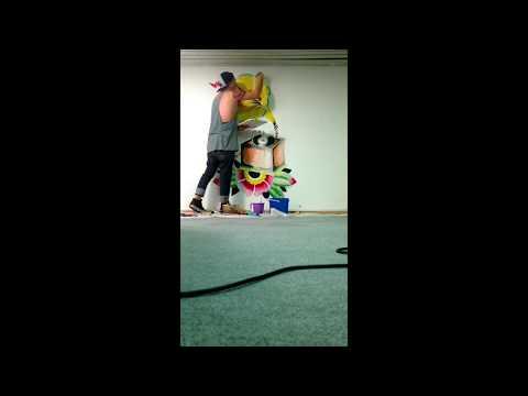 Gramophone Mural - Timelapse video (HD)