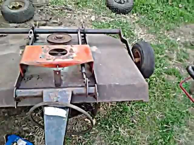 Riding Mower - pull/tow behind mower/brush hog project part 2 trail
