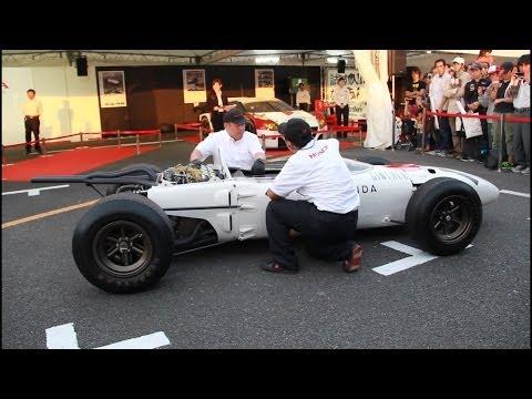 【Motor Sports Japan 2013】 ホンダF1 RA272 エンジン始動 【Honda Formula One RA272 Engine Start Up】