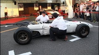 【Motor Sports Japan 2013】 ホンダF1 RA272 エンジン始動 【Honda Formula One RA272 Engine Start Up】