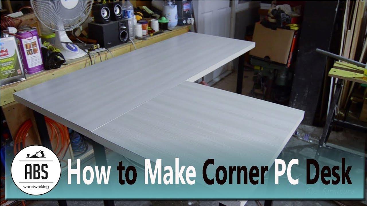 Cara Membuat Meja Komputer Sudut Finishing Hpl