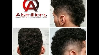 Removing Bulk From Afro To Perform The South Of France Haircut