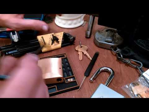 Взлом отмычками Masterlock Series 6850   (175) Master Lock Pro Series 6850 Pick & Gut part 1