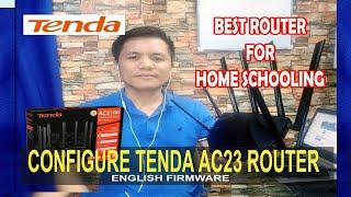 Configure Tenda AC23 Router English Firmware