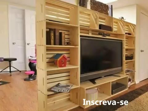 inspira es moveis de caixote e paletes youtube. Black Bedroom Furniture Sets. Home Design Ideas