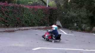 Disfrutando como niños con el Crazy kart de Polini