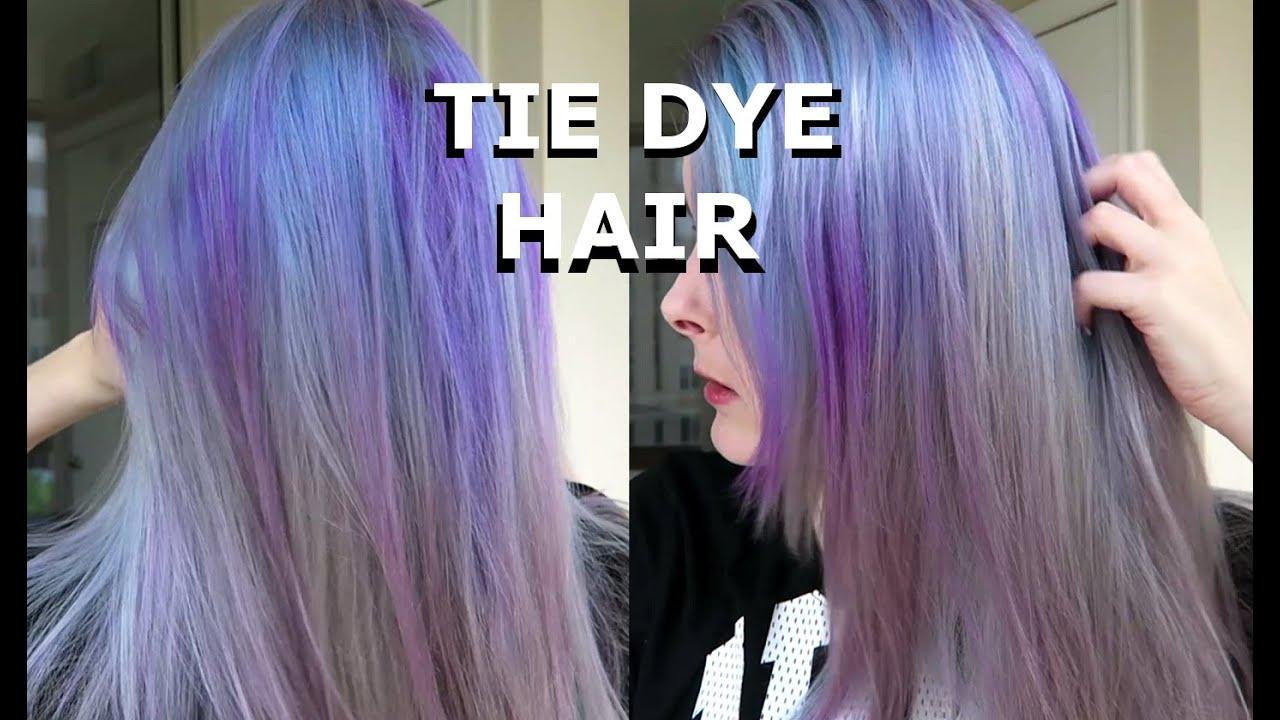 tie dye hair dyeing purple
