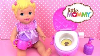 Little Mommy Princess and the Potty Time Bébé Poupon va au pot WC toilettes