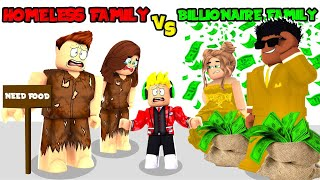 HOMELESS Family VS Billionaire Family In Brookhaven Roblox