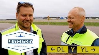 Lentostory: Lentoaseman kyltit, sähkö ja pysäköinti