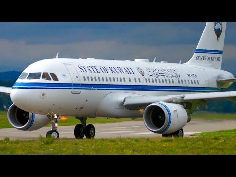 State of Kuwait Airbus A319-115(CJ) Take-Off at Bern