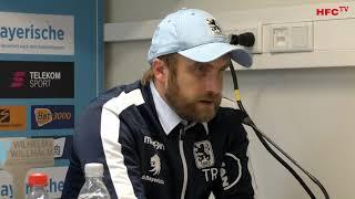 15. Spieltag: TSV 1860 München - Hallescher FC | Pressekonferenz nach dem Spiel