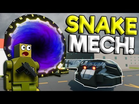 MASSIVE LEGO SNAKE MECH INVADES CITY! - Brick Rigs Roleplay Gameplay - Lego City Normal Bob thumbnail