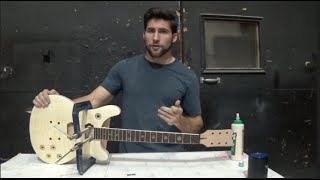 The guitar kit build from guitar fetish part 4 | Gluing up the neck