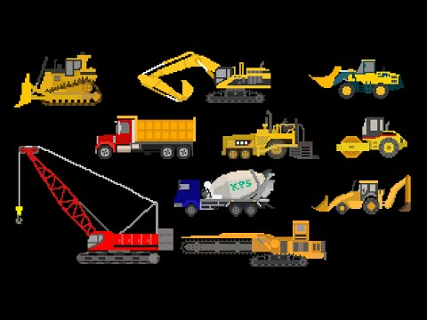 Construction Vehicles - Trucks & Equipment - The Kids' Picture Show (Fun & Educational)