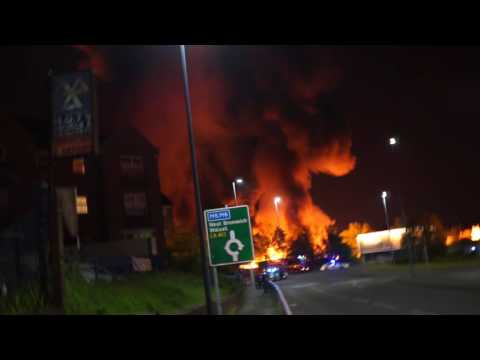 Fire at Tipton, Great Bridge (West Midlands)