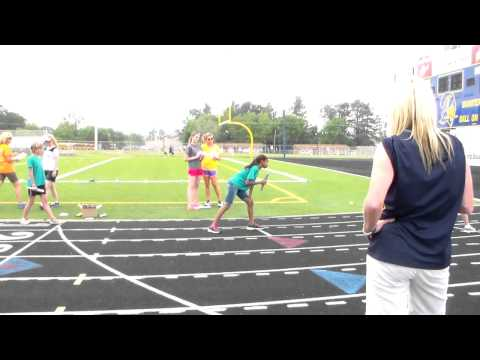Thumbnail: Aliyah's Track and Field day. The relay race.
