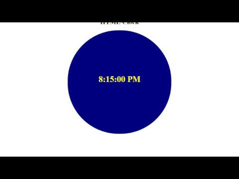 How can you Make Web Clock Only With HTML and basic CSS!! [Bangla part : 02]