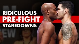 Download 10 Ridiculously Hilarious Pre-Fight Staredowns Mp3 and Videos
