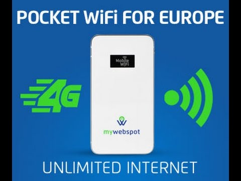Get Unlimited Internet anywhere in Europe - My Webspot Pocket Wifi