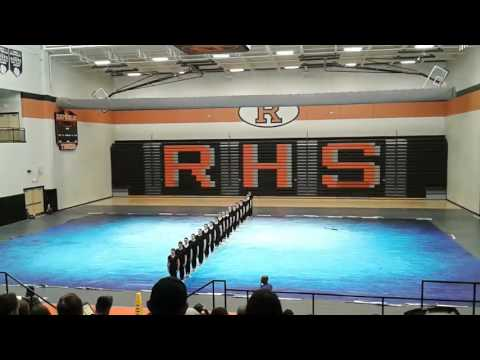 """Nixa High School Winter Guard's Performance of """"With or Without You"""" at Republic 1/28/17"""