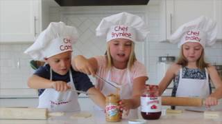 How To Make Peanut Butter and Jam Roll-Ups - Kids in the Kitchen | Six Sisters Stuff