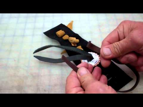 How to attach a leather and silver concho to leather