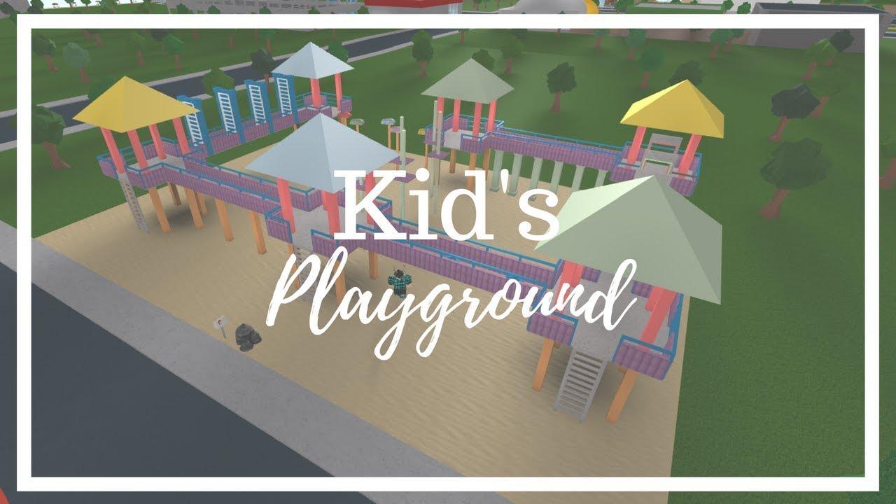 Bloxburg Kid S Playground Youtube
