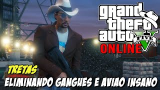 GTA 5 Online - Eliminando as Gangues, RP Duplo e Avião Kamikaze