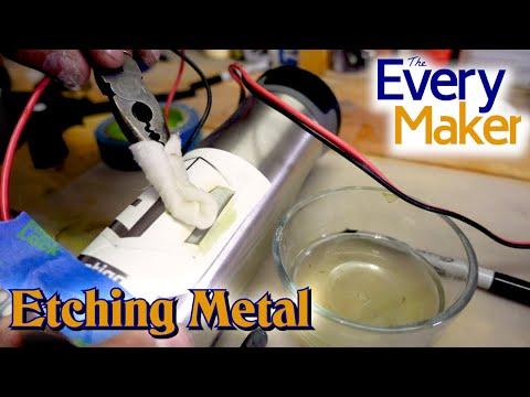 Etching Metal with Salt Water