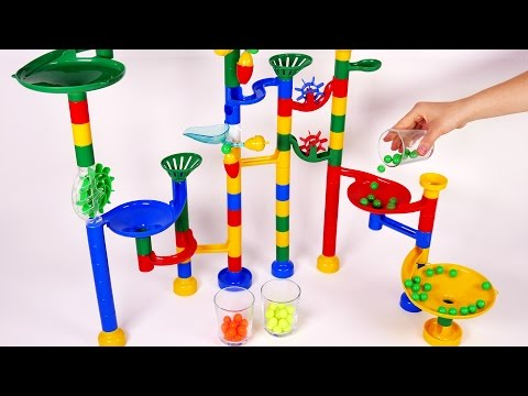 Marble Race Preschool Learn your Colors for Children Toddlers Babies and Kids Learning Toys Compilat