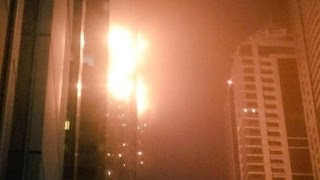 Fire rips through Torch skyscraper in Dubai