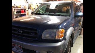 toyota sequoia trailer brake controller install  youtube