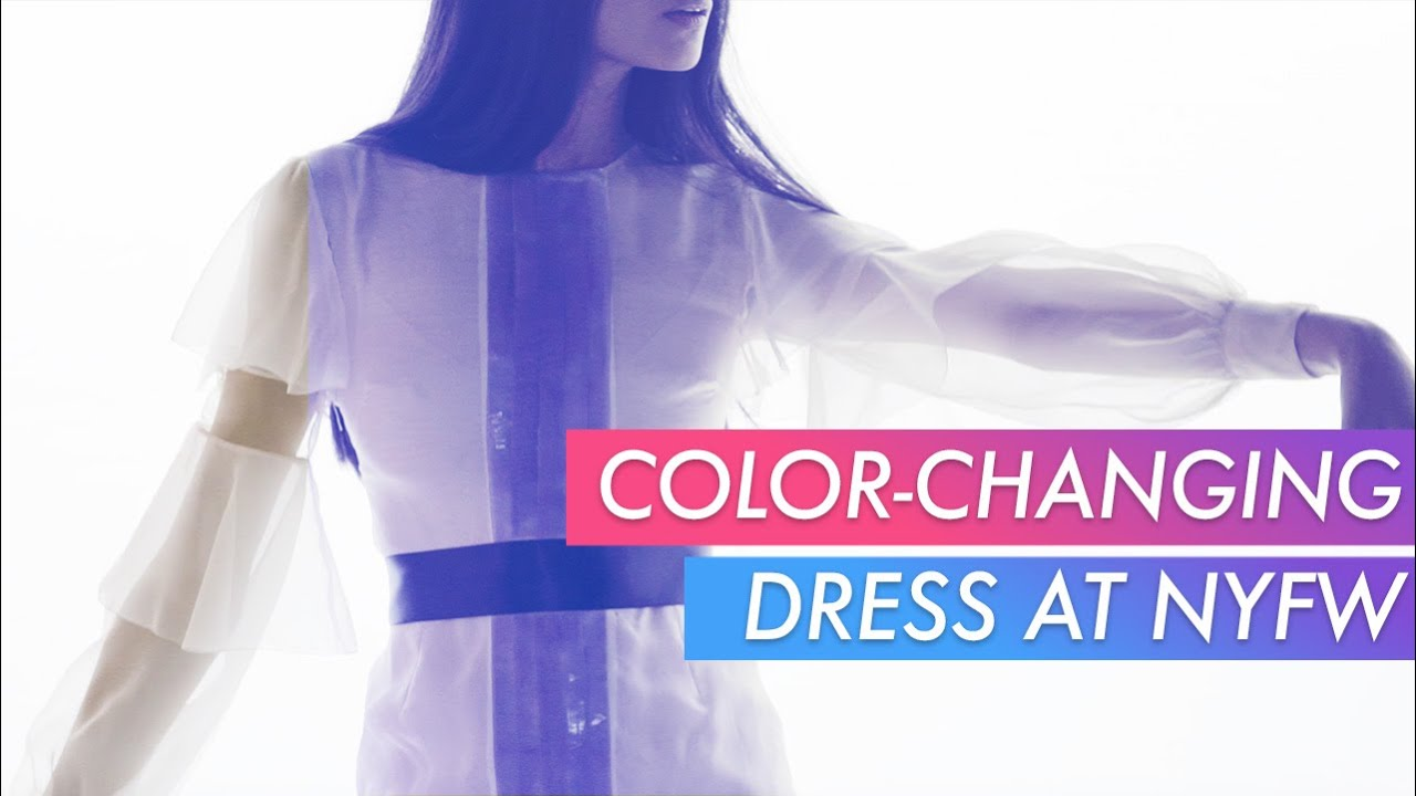 26301227 Colour-Changing Dress at New York Fashion Week - YouTube