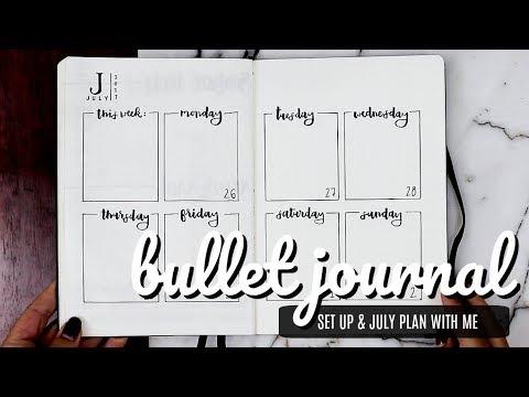 My Bullet Journal Setup + Plan With Me July   Minimalistic Bujo Inspo