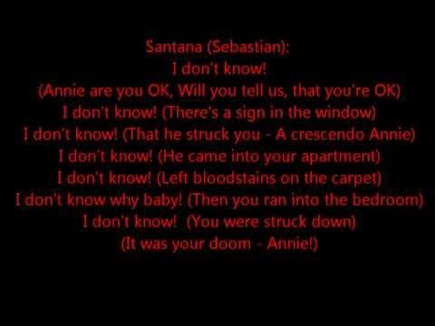 Glee - Smooth criminal - lyrics