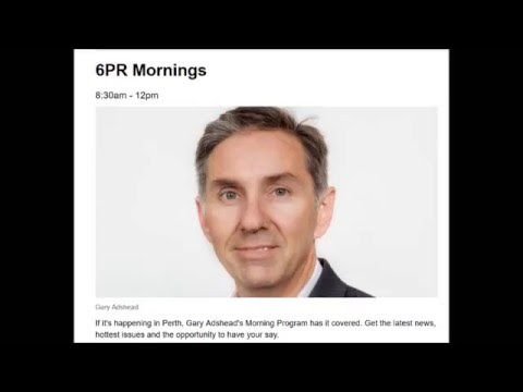 6PR Gary Adshead interviews Friends of Trigg Beach 18 Apr 2016