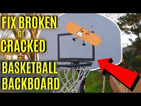 How To Fix Broken or Cracked Basketball Hoop Backboard -Jonny DIY