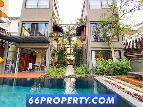 Loft Townhome w/ Pool for Rent 5 min from Nimman. Rare find!
