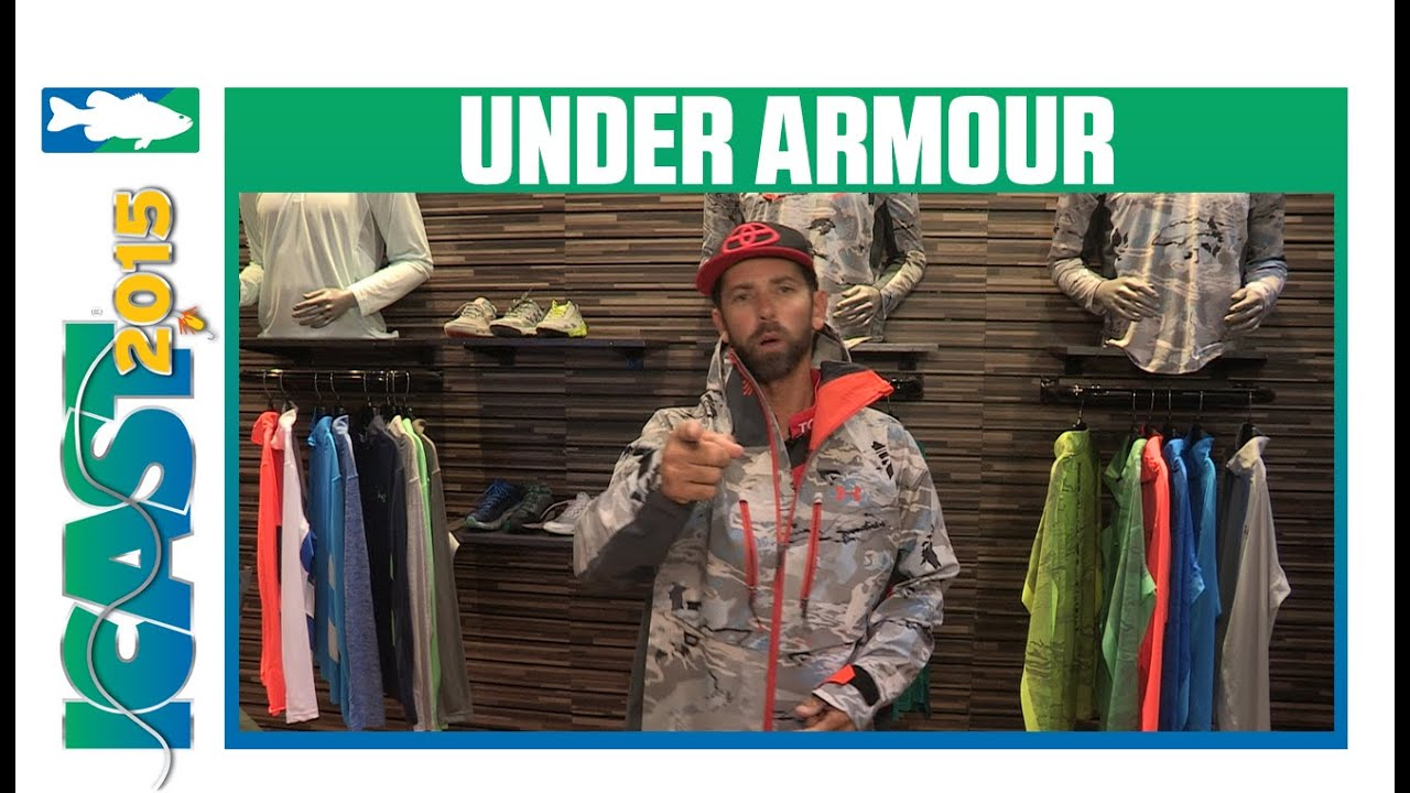 Under armour icast 2015 videos for Under armour fishing