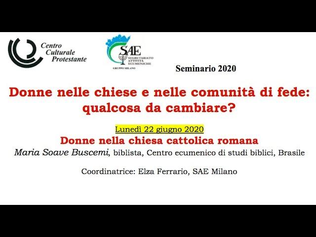 Donne nella chiesa cattolica romana - Maria Soave Buscemi, biblista